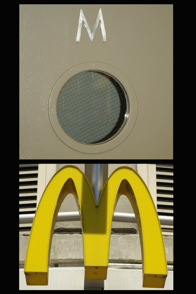 Sign A. Burger & Bathroom