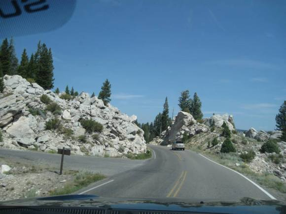 driving yellowstone